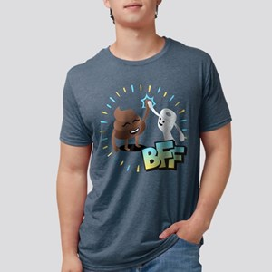 Emoji Poop Toilet Paper BFF Mens Tri-blend T-Shirt