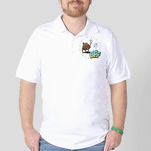 Emoji Poop Toilet Paper BFF Golf Shirt