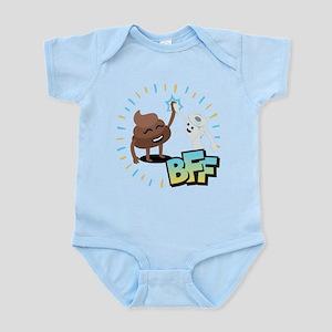 Emoji Poop Toilet Paper BFF Infant Bodysuit