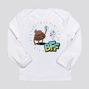 Emoji Poop Toilet Paper Long Sleeve Infant T-Shirt