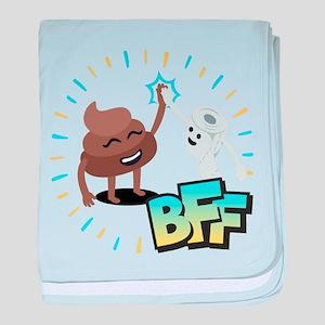 Emoji Poop Toilet Paper BFF baby blanket