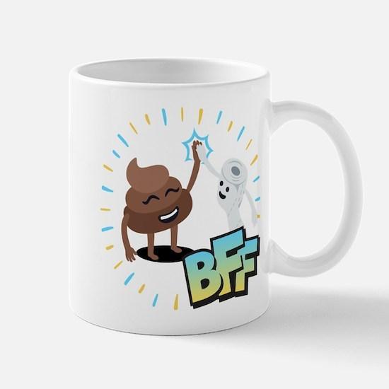 Emoji Poop Toilet Paper BFF Mug