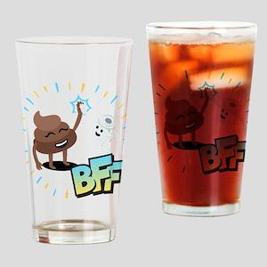 Emoji Poop Toilet Paper BFF Drinking Glass