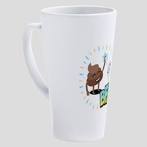 Emoji Poop Toilet Paper BFF 17 oz Latte Mug