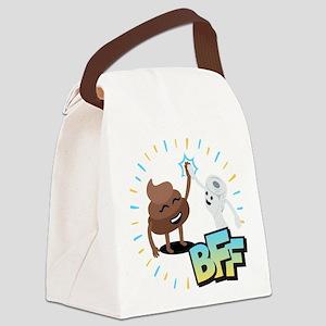 Emoji Poop Toilet Paper BFF Canvas Lunch Bag