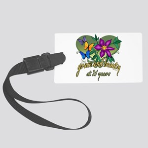 21st Birthday Beauty Large Luggage Tag