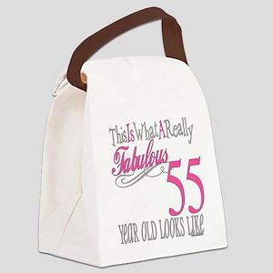 Fabulous 55yearold Canvas Lunch Bag