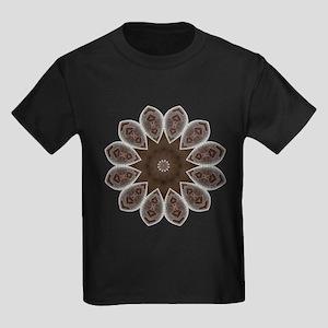 Namaste Petal Mandala Kids Dark T-Shirt