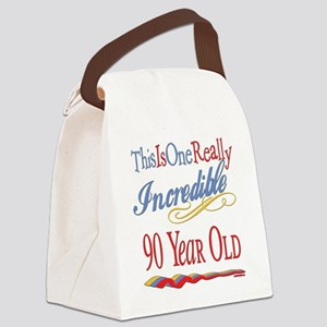 Incredibleat90 Canvas Lunch Bag