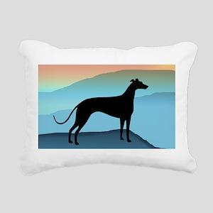 greyhound blue mt tall2 Rectangular Canvas Pil