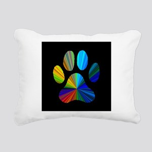 PAW PRINT Rectangular Canvas Pillow