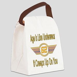 BirthdayUnderwear62 Canvas Lunch Bag