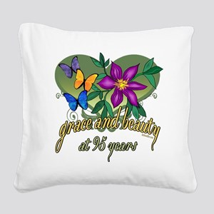 95th Birthday Grace Square Canvas Pillow