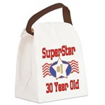 SUPERSTARbirthday30.png Canvas Lunch Bag