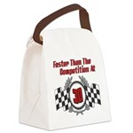 FasterAt30.png Canvas Lunch Bag