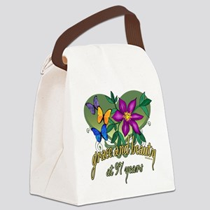97th Birthday Grace Canvas Lunch Bag