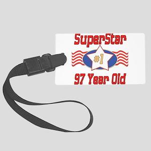 SUPERSTARbirthday97 Large Luggage Tag
