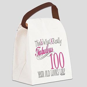 Fabulous 100yearold Canvas Lunch Bag