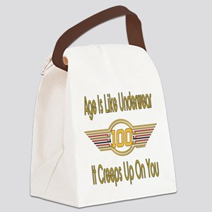 BirthdayUnderwear100 copy Canvas Lunch Bag