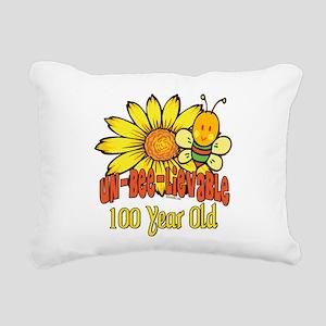 UNBELIEVABLEat100 Rectangular Canvas Pillow