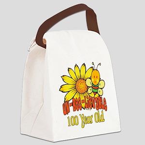 UNBELIEVABLEat100 Canvas Lunch Bag
