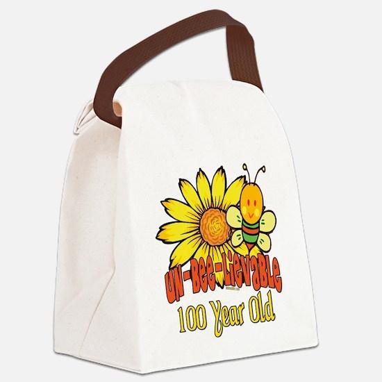 UNBELIEVABLEat100.png Canvas Lunch Bag