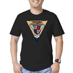 USS HANCOCK Men's Fitted T-Shirt (dark)