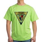 USS HANCOCK Green T-Shirt