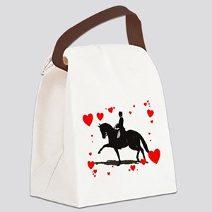 Dressage and Hearts Canvas Lunch Bag