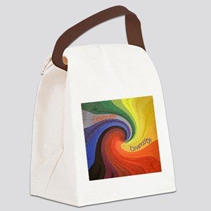 Celebrate Diversity puzzle Canvas Lunch Bag