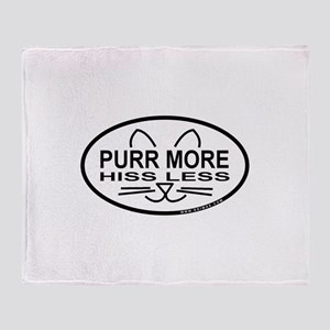 Purr More Throw Blanket