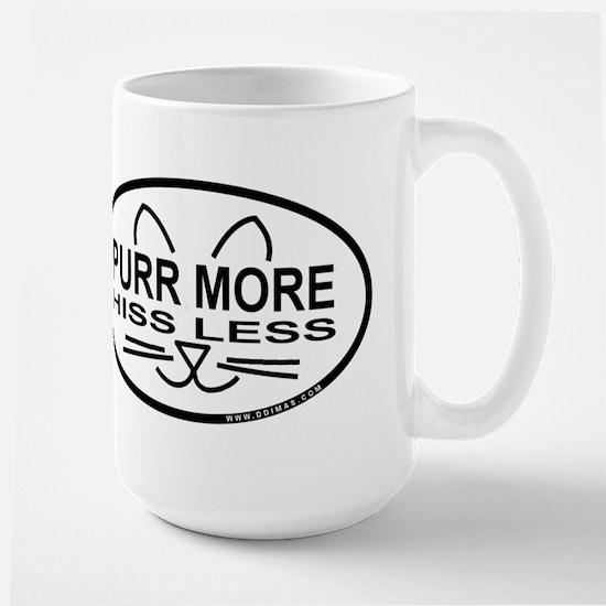 Purr More Large Mug