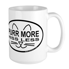 Purr More Large Mug
