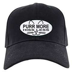 Purr More Black Cap