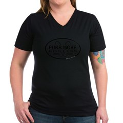 Purr More Women's V-Neck Dark T-Shirt