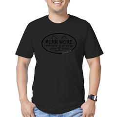 Purr More Men's Fitted T-Shirt (dark)