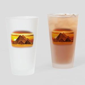 The Pyramids at Giza Drinking Glass