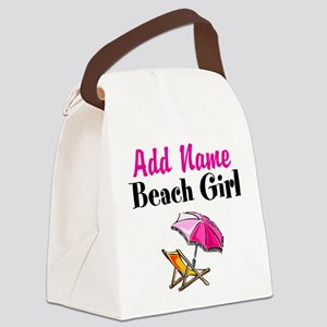 BEACH GIRL Canvas Lunch Bag
