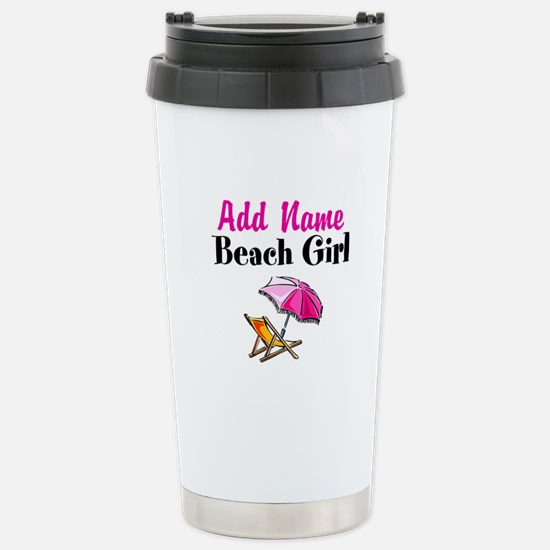 BEACH GIRL Stainless Steel Travel Mug