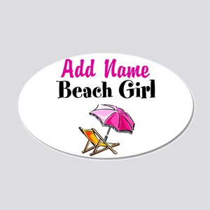 BEACH GIRL 20x12 Oval Wall Decal
