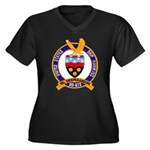 USS HAWKINS Women's Plus Size V-Neck Dark T-Shirt