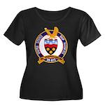USS HAWK Women's Plus Size Scoop Neck Dark T-Shirt