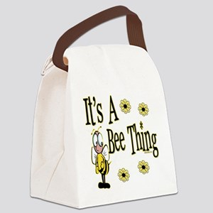 BumbleBeeItsABeeThing copy Canvas Lunch Bag