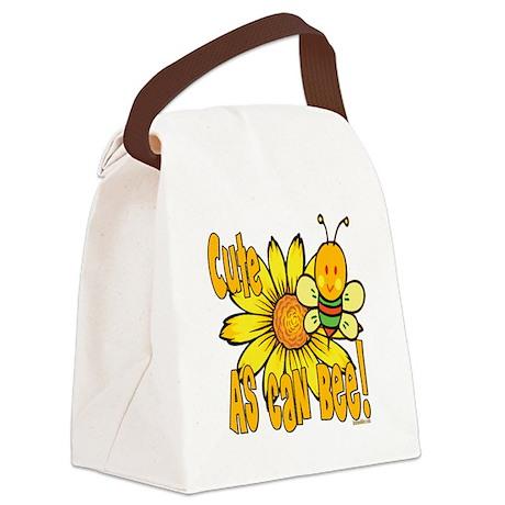 BumbleBeeCuteAsCanBee copy.png Canvas Lunch Bag