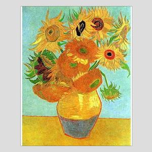 Still Life Vase with Twelve Sunflowers Small Poste