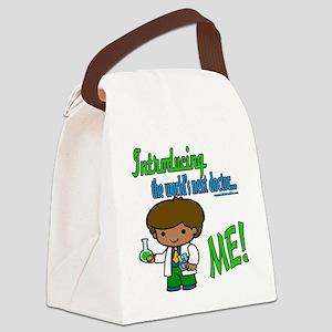LTIntroducingDoctorblack copy Canvas Lunch Bag