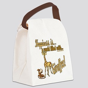 HappinessGiraffes copy Canvas Lunch Bag
