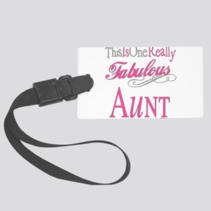 Fabulous AUNT Large Luggage Tag