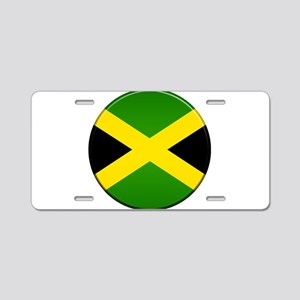 Jamaican Button Aluminum License Plate