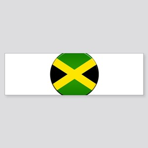 Jamaican Button Sticker (Bumper)